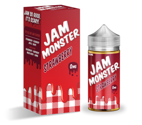 Strawberry - Jam Monster E-Liquid 100ML - All Puffs