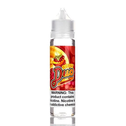 Peach + Raspberry - Burst Duo E-Liquid 60ml - All Puffs