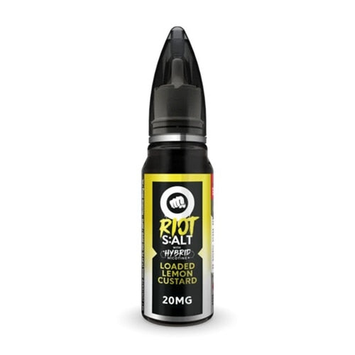 Loaded Lemon Custard - Riot Squad Salt Nicotine E-Liquid 30ML - All Puffs