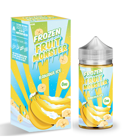 Banana Ice - Frozen Fruit Monster E-Liquid 100ML - All Puffs
