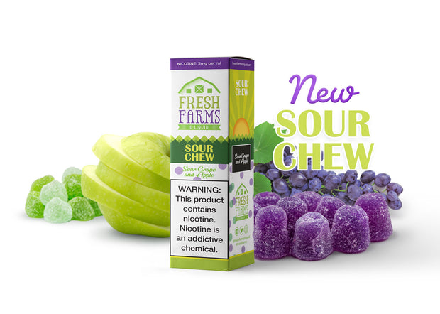 Sour Chew by Fresh Farms E-Liquid 60ml - All Puffs