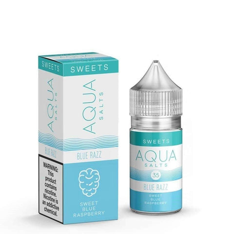 Blue Razz Aqua Salts Nicotine Salt E Liquid 30ml - All Puffs