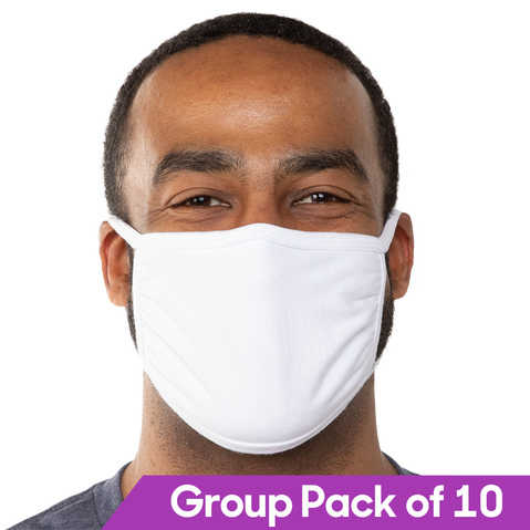 Cotton Face Mask Reusable and Washable Unisex (10 Pack) - All Puffs