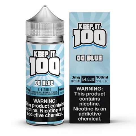 Blue Slushie - OG Blue - Keep It 100 E-juice (100ml) - All Puffs