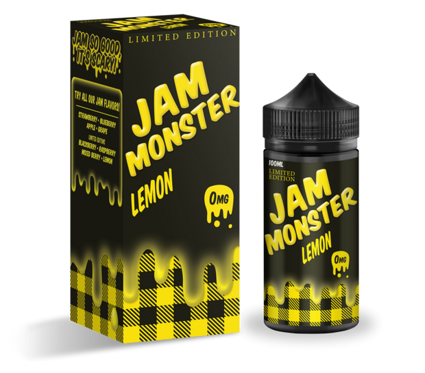Lemon - Jam Monster E-Liquid 100ML - All Puffs