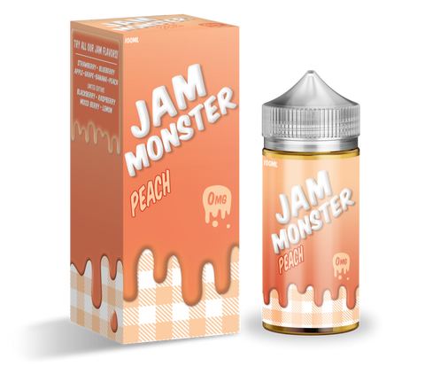 Peach - Jam Monster E-Liquid 100ML - All Puffs