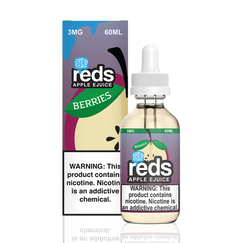 Reds Iced Berries Apple E-Liquid by 7 Daze - All Puffs
