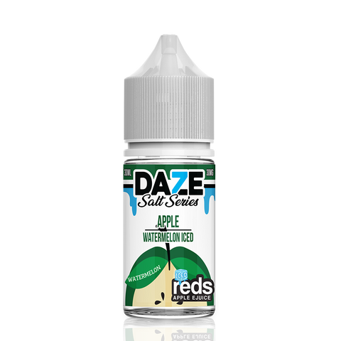 Apple Watermelon Iced - 7 Daze Reds Salt Series Salt Nicotine - All Puffs
