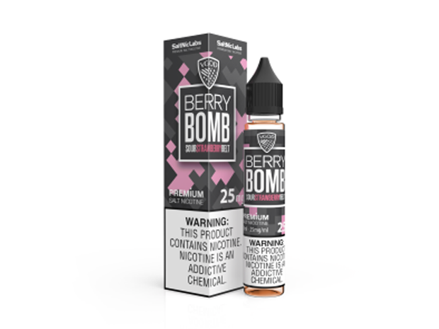 ICED Strawberry Bomb by VGOD Salt E-Liquid 30ML - All Puffs