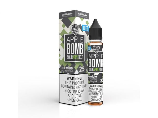 ICED Apple Bomb by VGOD Salt E-Liquid 30ML - All Puffs