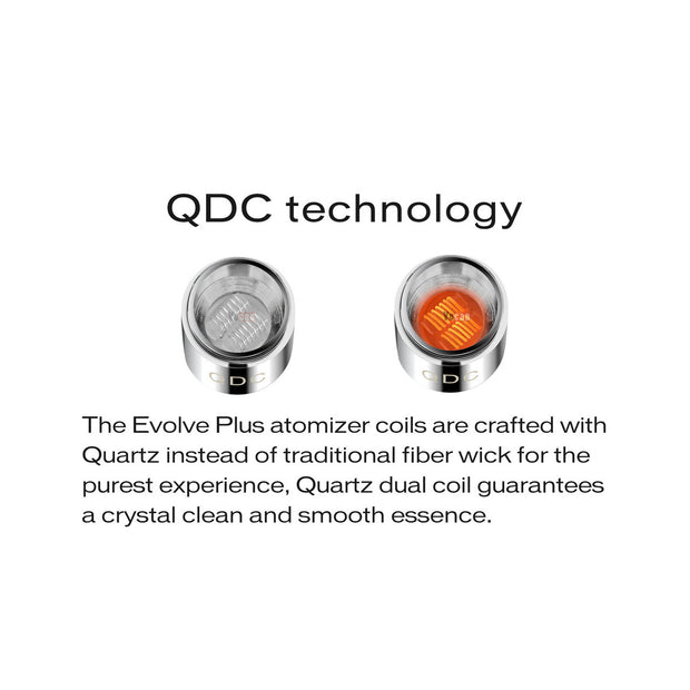 Yocan Evolve Plus Quartz Dual Coils - 5PK - All Puffs