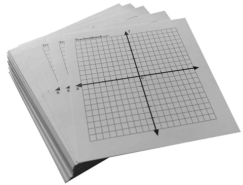 Coordinate Graph Sticker 3 IN. X 3 IN. with Crack and Peel Backing