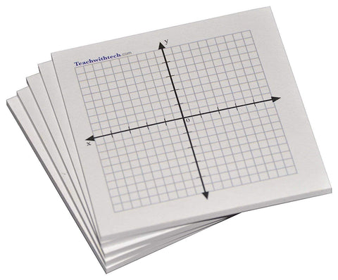 Sticky Note Mini Graph Pads Graph Paper Sticky Notes 3 IN x 3 IN 20 x 20 Four Quadrant
