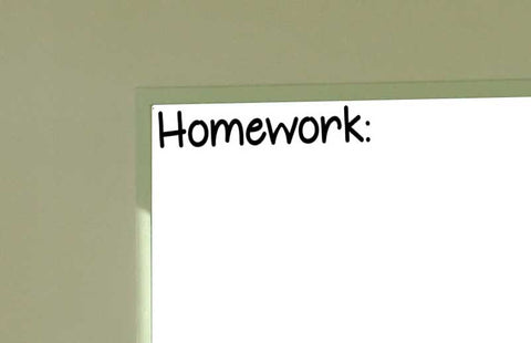 Homework Wall Vinyl Decal Classroom for the Classroom