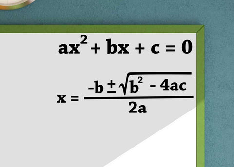 Quadratic Formula Quadratic Equation Math Vinyl Wall Decal