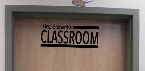 Personalized Teacher Classroom Door vinyl wall decal for School