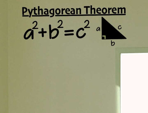 Pythagorean Theorem Vinyl Decal - Classroom Decal - Wall Decal - Math Sticker