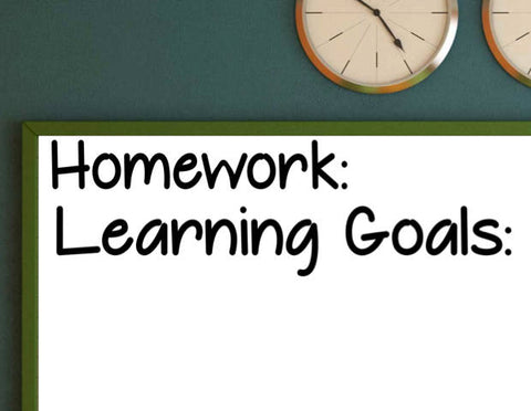 Homework and Learning Goals Classroom Wall Vinyl Decal
