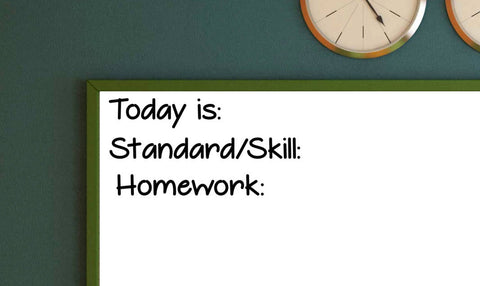 Today is Standard/Skill and Homework Bundle  Vinyl Decal Classroom Decal
