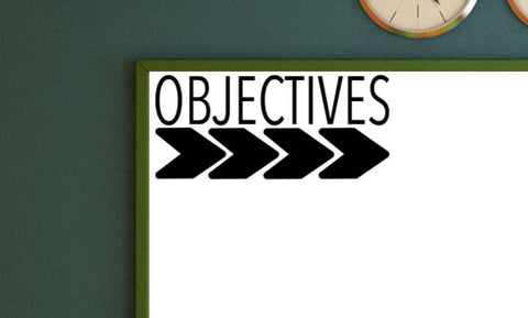 Objectives or Target Header Label Vinyl Wall Decal School Classroom