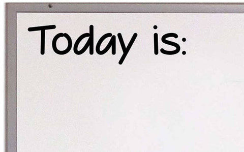Today is Vinyl Decal Classroom Decal Teacher Decal Elementary Classroom
