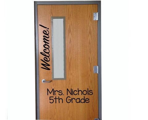 Customized Welcome! Classroom Door vinyl wall decal School Home Elementary Classroom Teacher Bedroom Decal Educational