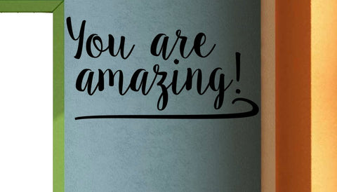 You are amazing! Classroom Door Vinyl Wall Decal School Elementary Classroom
