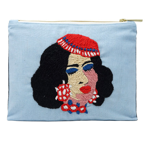 Laila Hand Embroidered Bag Pouch