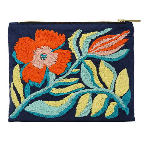 Lily of The Valley Hand Embroidered Bag Pouch