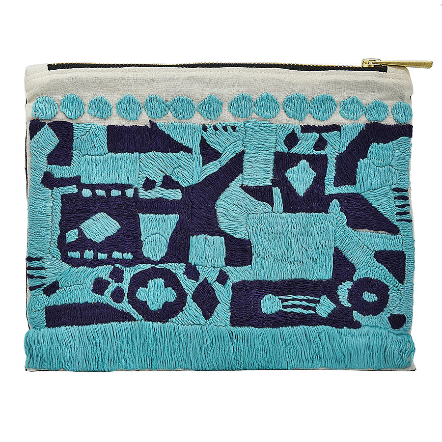 Africana Hand Embroidered Pouch Bag
