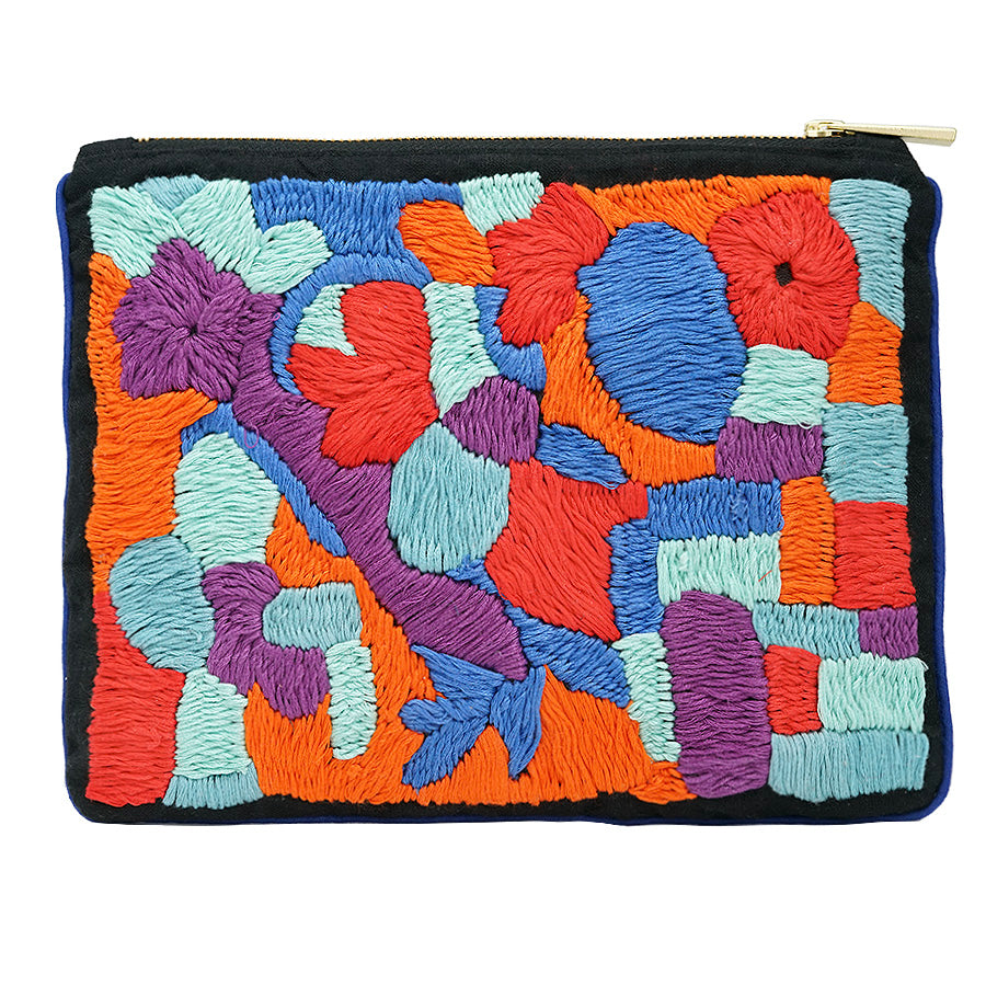 Hidden Lily Brick Hand Embroidered Pouch Bag