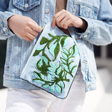 Wild Leaves Hand Embroidered Pouch Bag