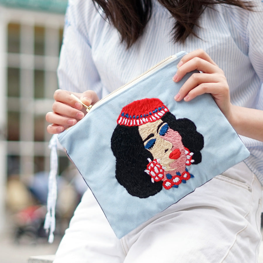 Laila Hand Embroidered Pouch Bag