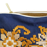 Stylized Phulkari Motif Hand Embroidered Pouch Bag