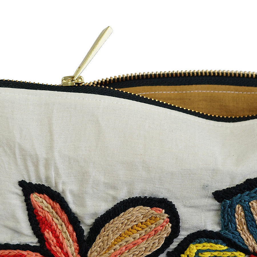 Artisan Lilies Exclusive Hand Embroidered Hua Pouch