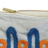London Railing Hand Embroidered Pouch Bag