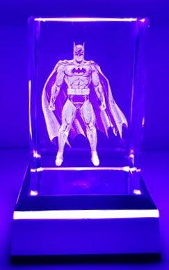 3D Inscribed Batman Crystal Light