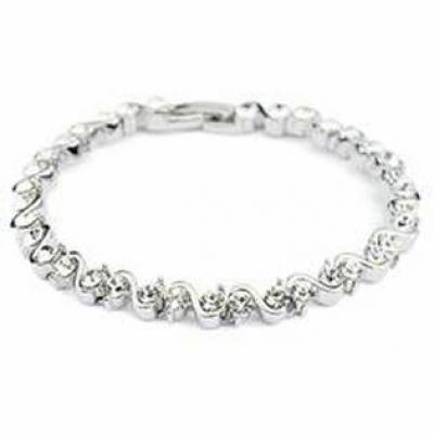 White Gold Plated Dress Bracelet