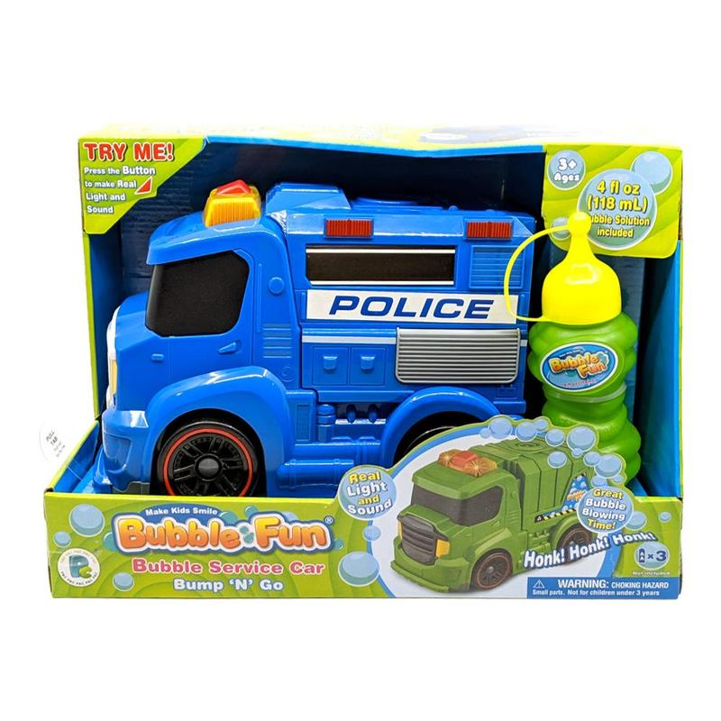 Bubble Fun Bubble Service Car Police Car