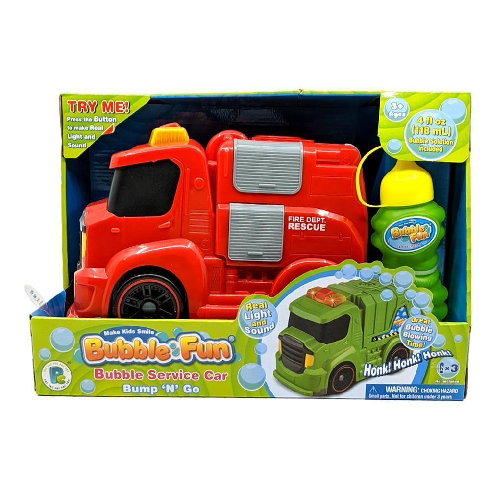Bubble Fun Bubble Service Car Fire Engine