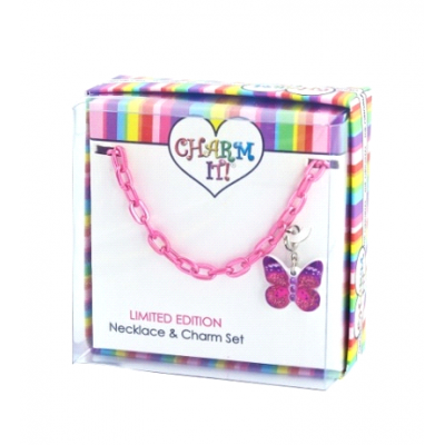 Charm It Butterfly Necklace & Charm Set