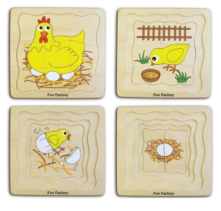 Wooden Chicken Layer Puzzle
