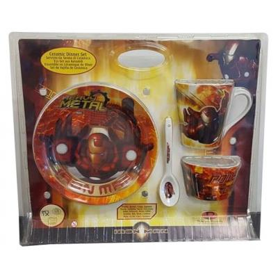 Marvel Iron Man Ceramic Dinner Set