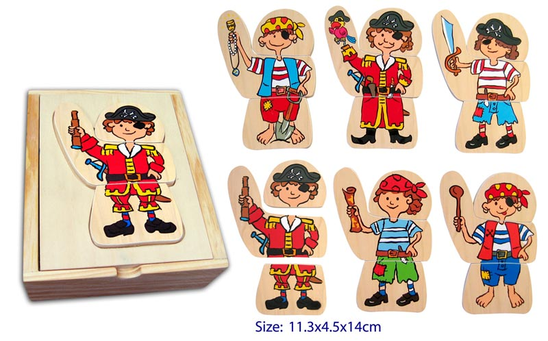 Fun Factory Wooden Dress Up Pirate
