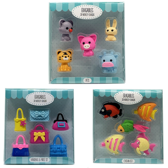 Erasables 3D Novelty Erasers