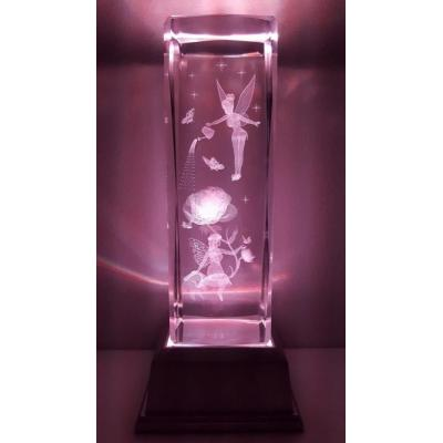 3D Inscribed Large Fairy Crystal Light