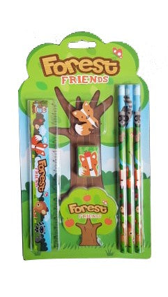 Forest Friends 7 Piece Stationery Set