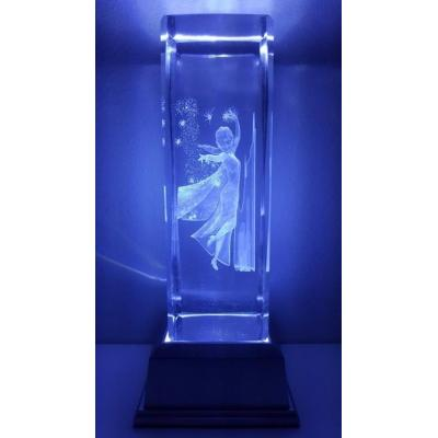 3D Inscribed Large Frozen Crystal Light