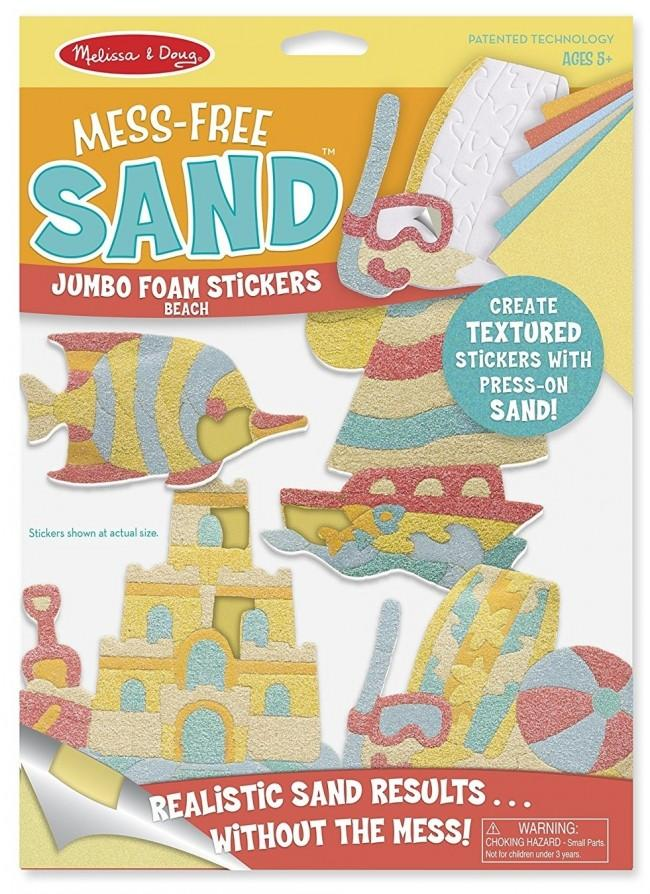 Melissa & Doug Mess-Free Sand Jumbo Foam Stickers Beach