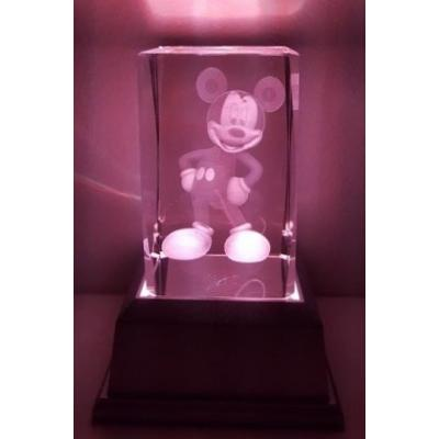 3D Inscribed Mickey Crystal Light